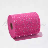 Fuchsia Sequin Tulle Roll